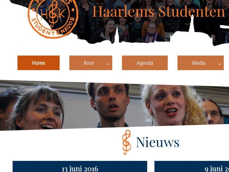 Haarlems Studenten Koor Website